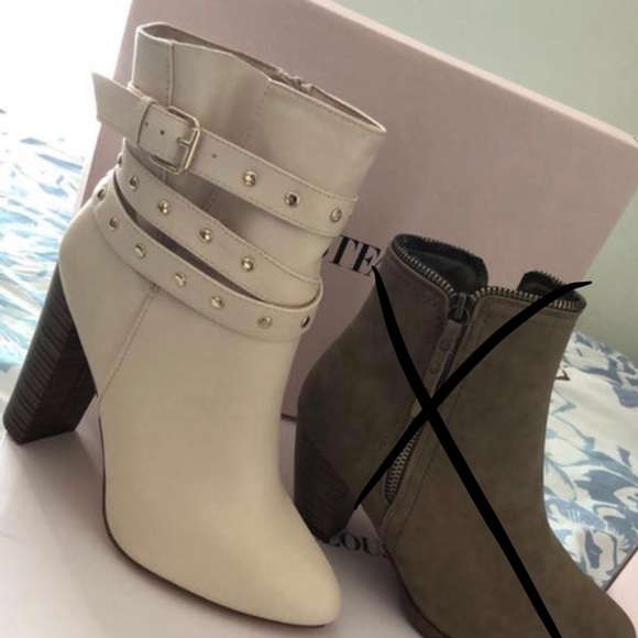 JustFab Shoes | Beige Boots Size 75